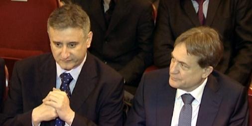 Tomislav Karamarko i Božidar Kalmeta (Foto: TV Vox)