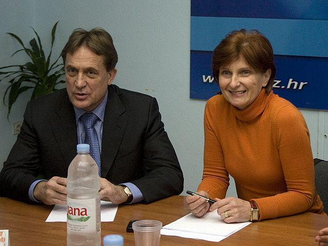 Božidar Kalmeta i savjetnica Ana Lovrin (Foto: Zadarski list)