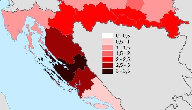 Zadrani više od svih pakiraju kofere i napuštaju Hrvatsku