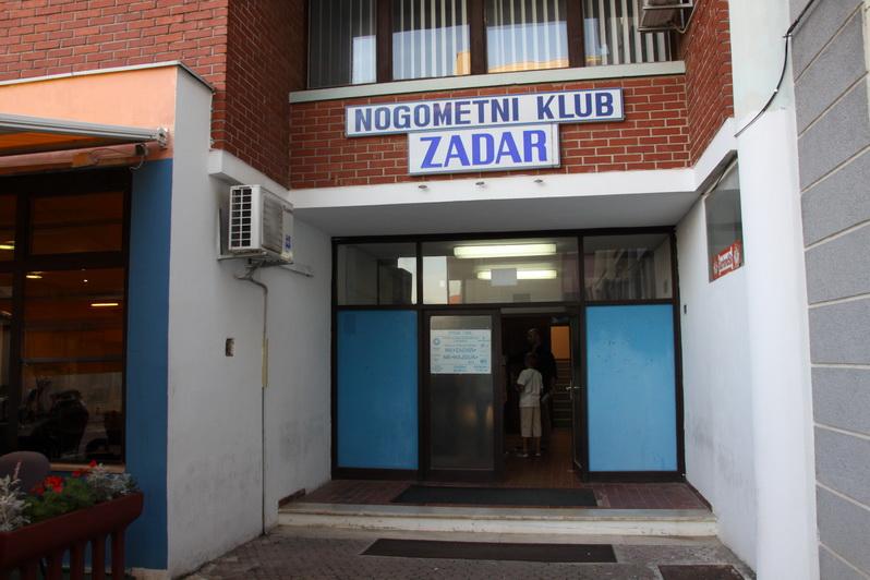 Ulaz u zgradu NK Zadar. Foto: Znet